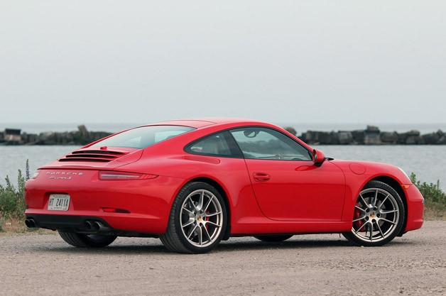 2013 Porsche 911 Carrera S rear 3/4 view
