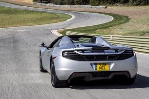 2013 McLaren MP4-12C Spider driving
