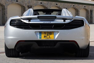 2013 McLaren MP4-12C Spider rear view