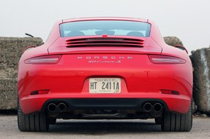 2013 Porsche 911 Carrera S rear view