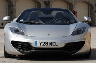 2013 McLaren MP4-12C Spider front view