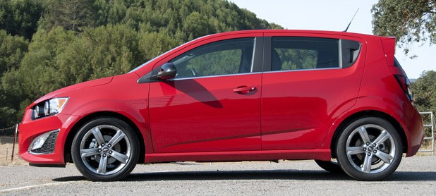 2013 Chevrolet Sonic RS side view