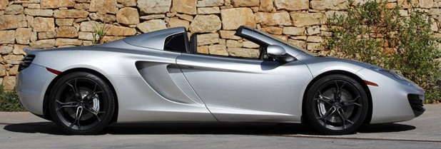 2013 McLaren MP4-12C Spider side view