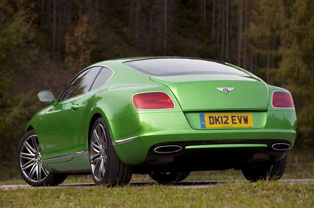 2013 Bentley Continental GT Speed rear 3/4 view
