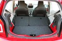 2012 Volkswagen Up! rear cargo area
