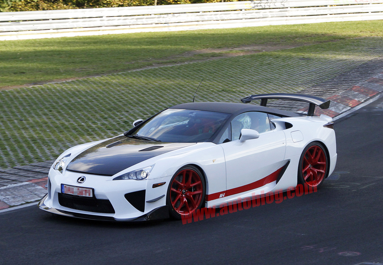 lexus lfa special edition ad x spied autoblog. Black Bedroom Furniture Sets. Home Design Ideas