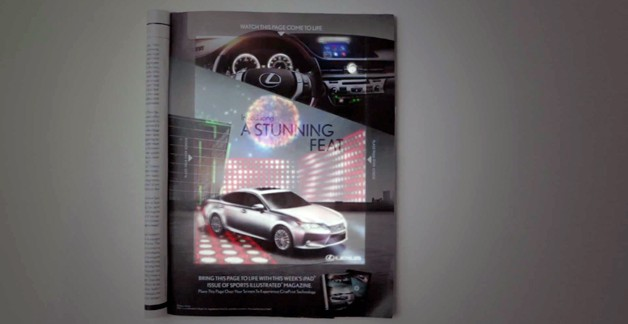 Lexus ES CinePrint ad