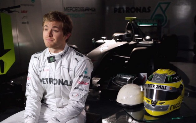 Nico Rosberg helmet video
