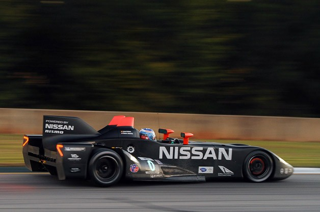 the sights and sounds of the nissan deltawing at petit le mans w video. Black Bedroom Furniture Sets. Home Design Ideas