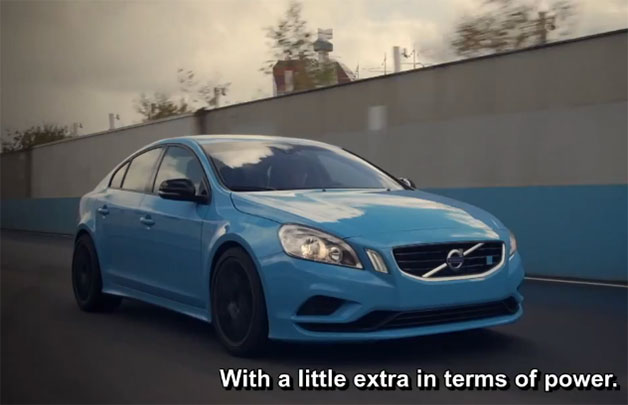 Volvo S60 Polestar prototype at speed