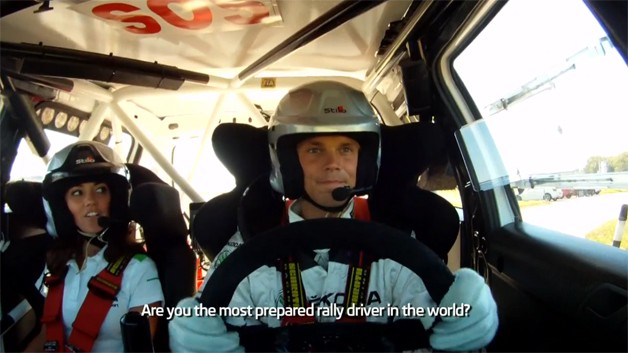 Watch Skoda's Mikkelsen get quizzed whilst using the convene stage