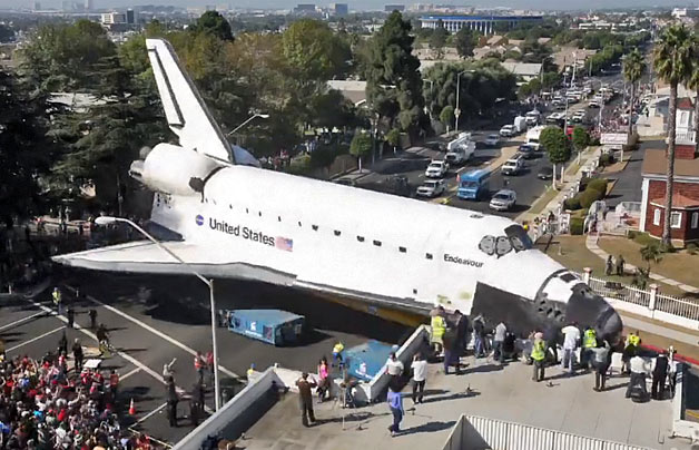 Space Shuttle Endeavour in Los Angeles
