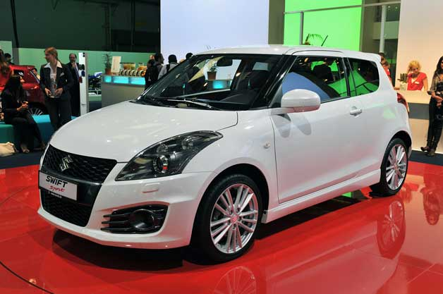 2012 Suzuki Swift Sport - white - front three-quarter view