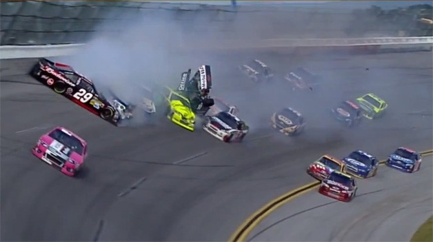 Talladega 2012 NASCAR Tony Stewart Crash