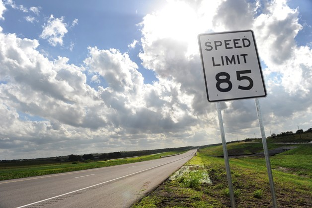 Texas 85 mph toll road