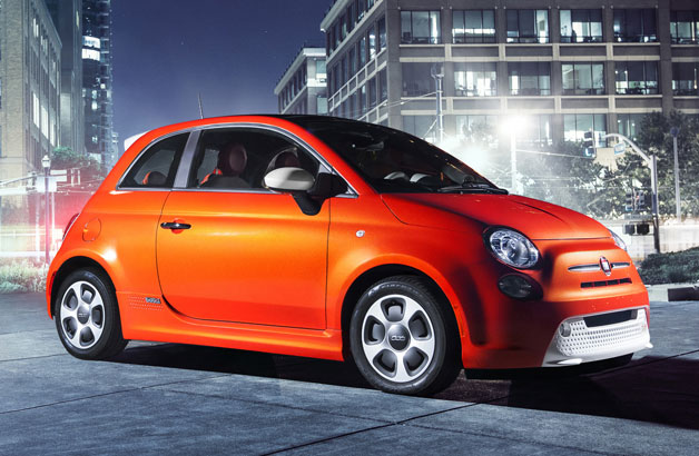 2013 Fiat 500e - front three-quarter view
