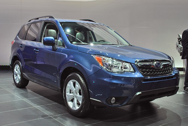 2014 Subaru Forester finally steps in front of the camera