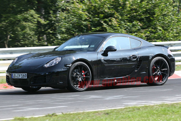 Porsche Cayman prototype testing with disguise
