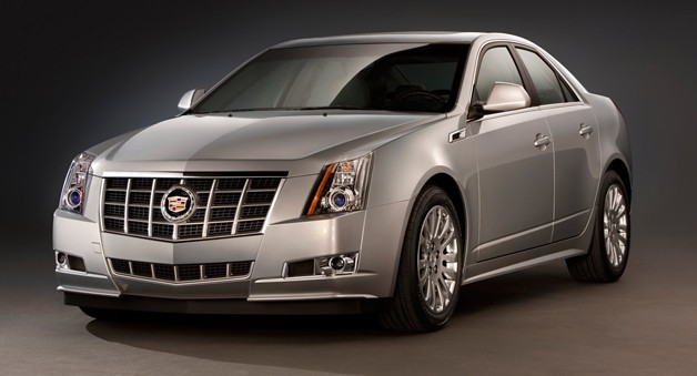 Cadillac CTS - front three-quarter view, silver