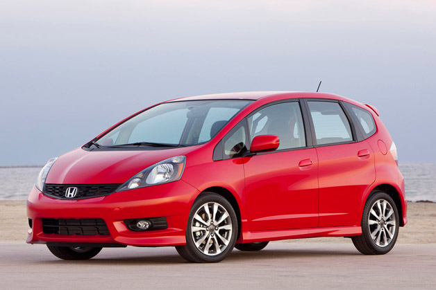 2012 Honda Fit Sport - front three-quarter view, red