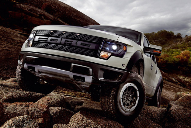 2013 Ford F-150 SVT Raptor climbing rocks