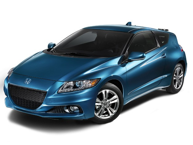 2013 Honda CR-Z - US spec. Blue, in studio shot.