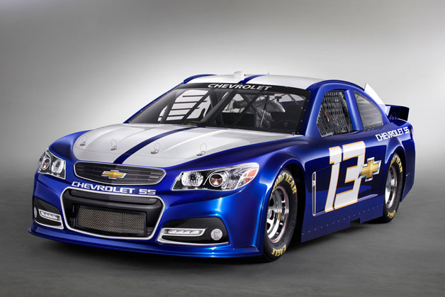 2014 Chevrolet SS NASCAR racer - studio shot - front three-quarter view