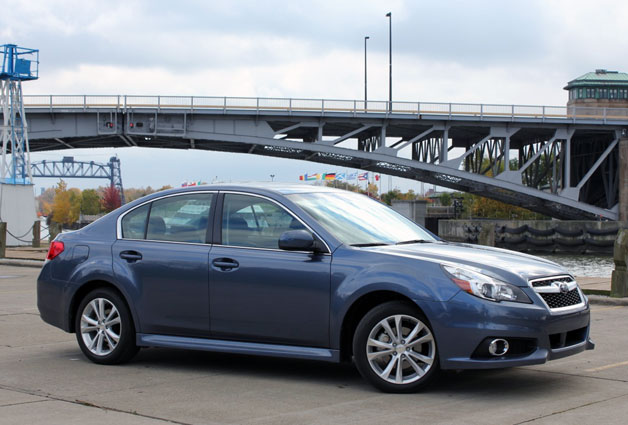 2013 Subaru Legacy 2.5i - front three-quarter view with bridge