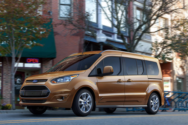 2014 Ford Transit Connect Wagon - brown - front three-quarter view