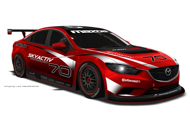 Diesel-powered Mazda6 Grand-Am Series racer - artist's rendering