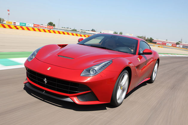 Ferrari F12berlinetta at speed on track
