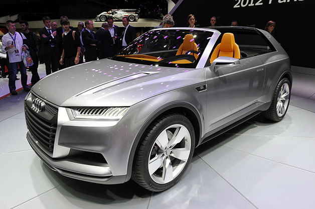 Audi Crosslane Coupe Concept live at auto show reveal