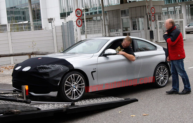 2014 BMW 4 Series Coupe spy shot