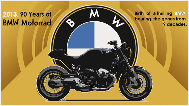 BMW Motorrad 90th Anniversary model rendering