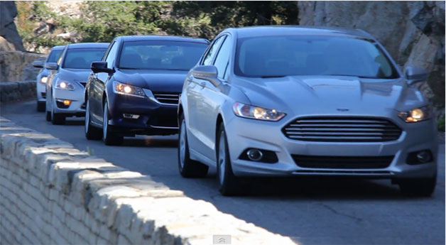 Car and Driver mid-size sedan comparison test - 2013