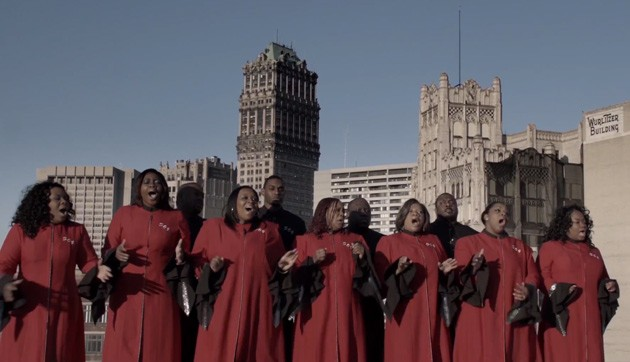 Selected From God gospel choir singing in Detroit - video screencap