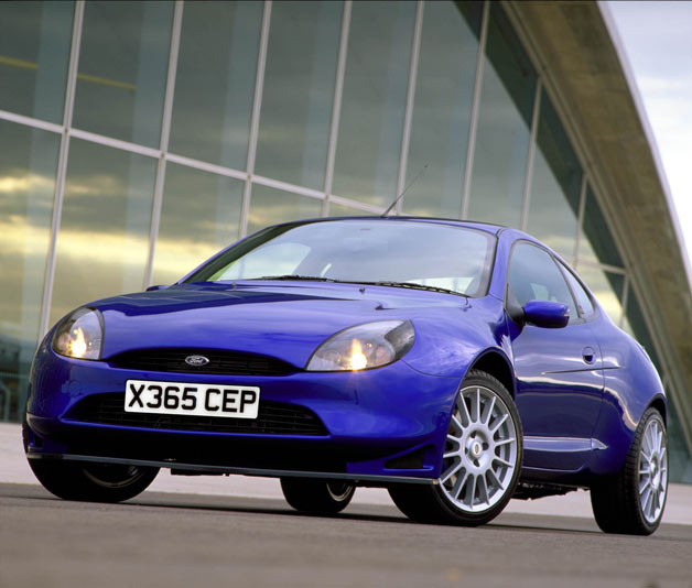 Ford of Europe's Puma Racing hatchback - front three-quarter view, blue