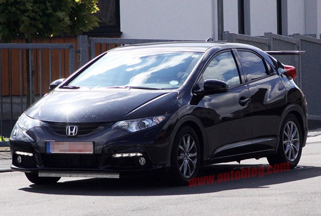 Honda Civic Type R prototype spy shot - front three-quarter view