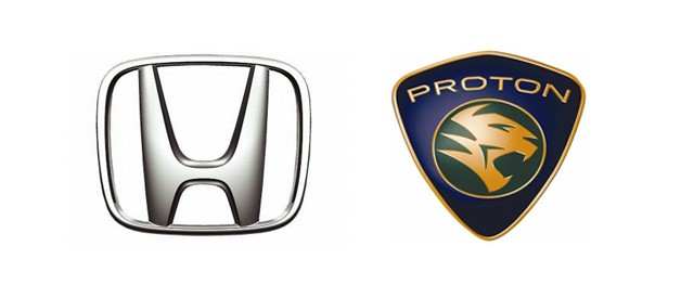 Honda and Proton logos
