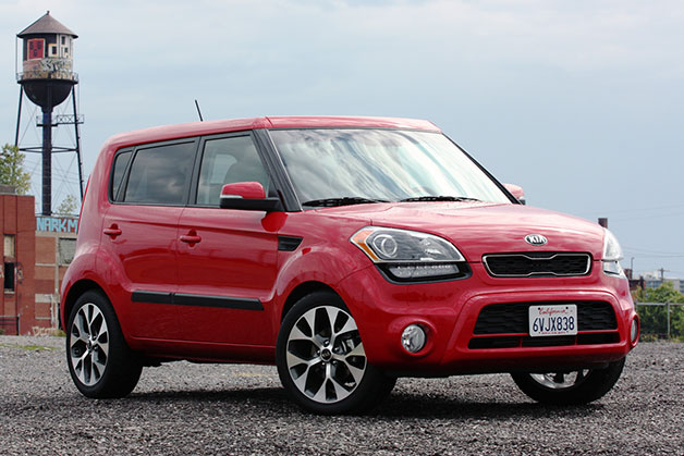 2013 Kia Soul - front three-quarter view