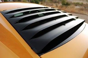 Retrobuilt 1969 Mustang Fastback rear window slats