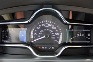 2013 Lincoln MKS EcoBoost gauges
