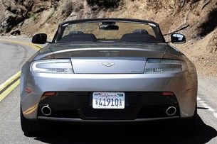 2012 Aston Martin V8 Vantage Roadster rear view