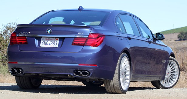 2013 BMW Alpina B7 rear 3/4 view