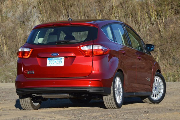 2013 Ford C-Max Energi rear 3/4 view
