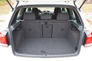 2012 Volkswagen GTI rear cargo area