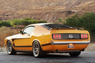 Retrobuilt 1969 Mustang Fastback rear 3/4 view