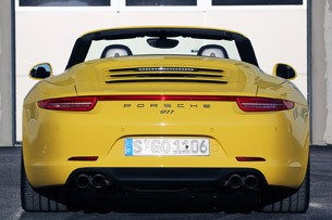 2013 Porsche 911 Carrera 4S rear view