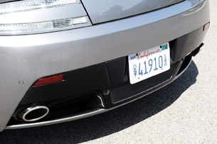 2012 Aston Martin V8 Vantage Roadster rear fascia