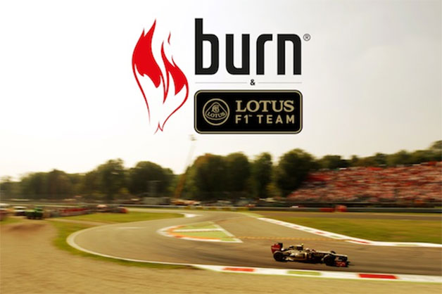 Coca-Cola Burn and Lotus F1 sponsorship announcement graphic